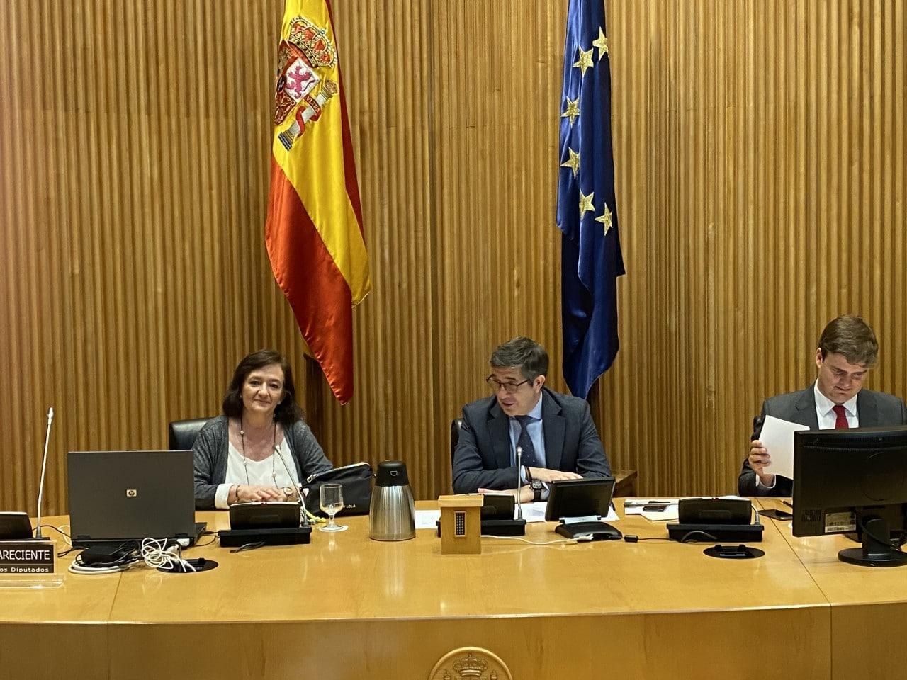 ristina Herrero en la Comisión de Reconstrucción