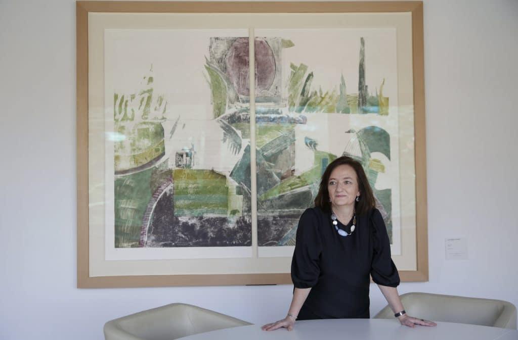 Cristina Herrero en su despacho en la AIReF
