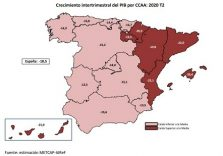 AIReF publishes the second quarterly estimate of the composition of national GDP by Region