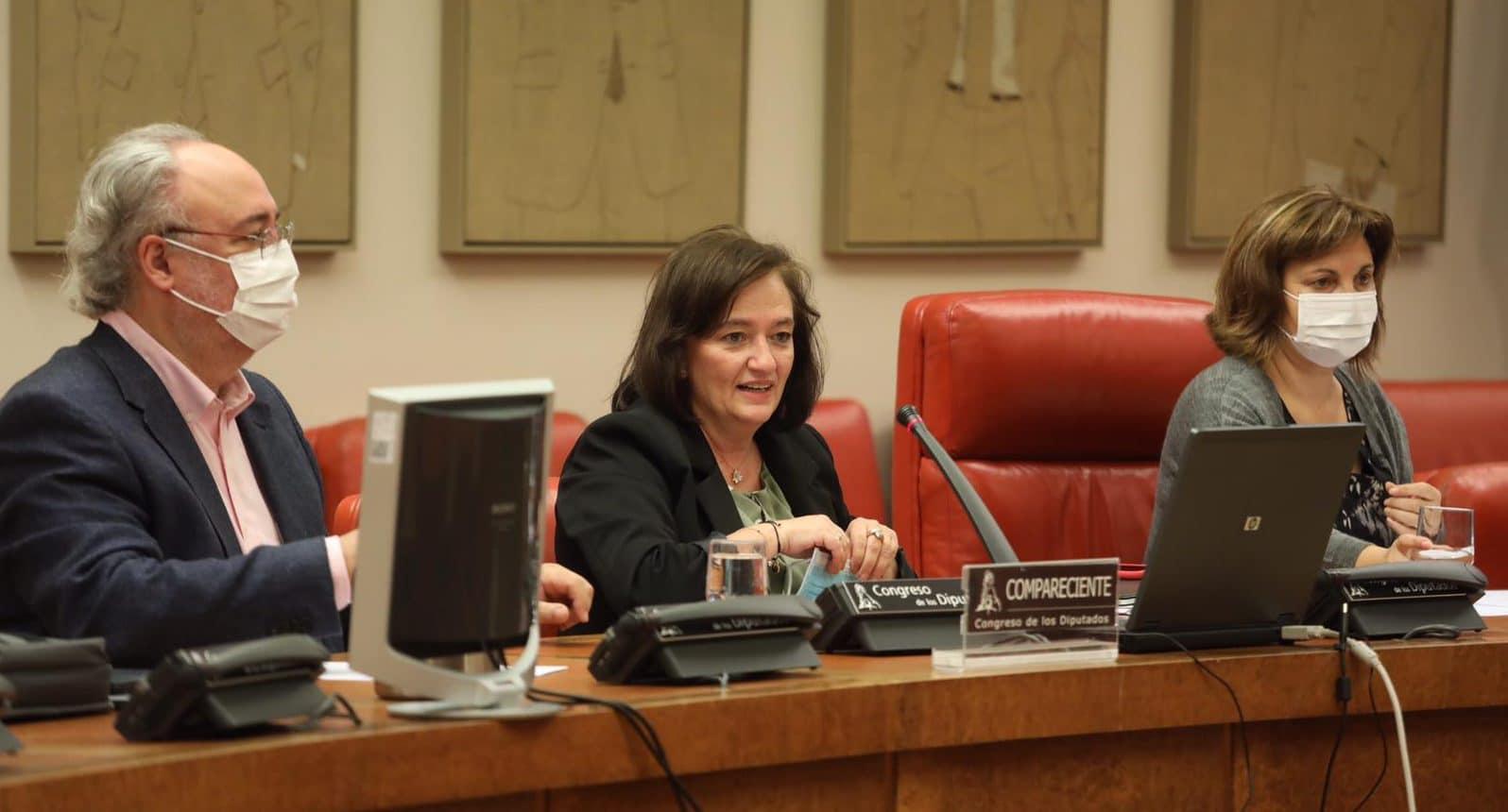 Cristina Herrero at the Parliament