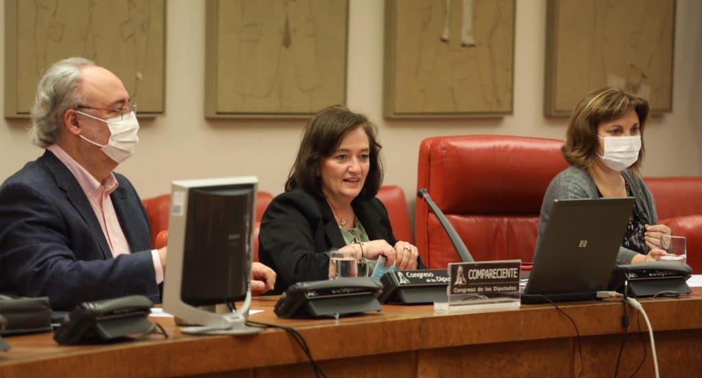Cristina Herrero comparece en la Comisión de Presupuestos del Congreso