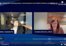 Cristina Herrero participates in an Esade webinar with Toni Roldán about evaluation and data access