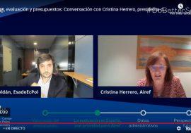 Cristina Herrero participa en un webinar de Esade con Toni Roldán sobre evaluación y acceso a datos