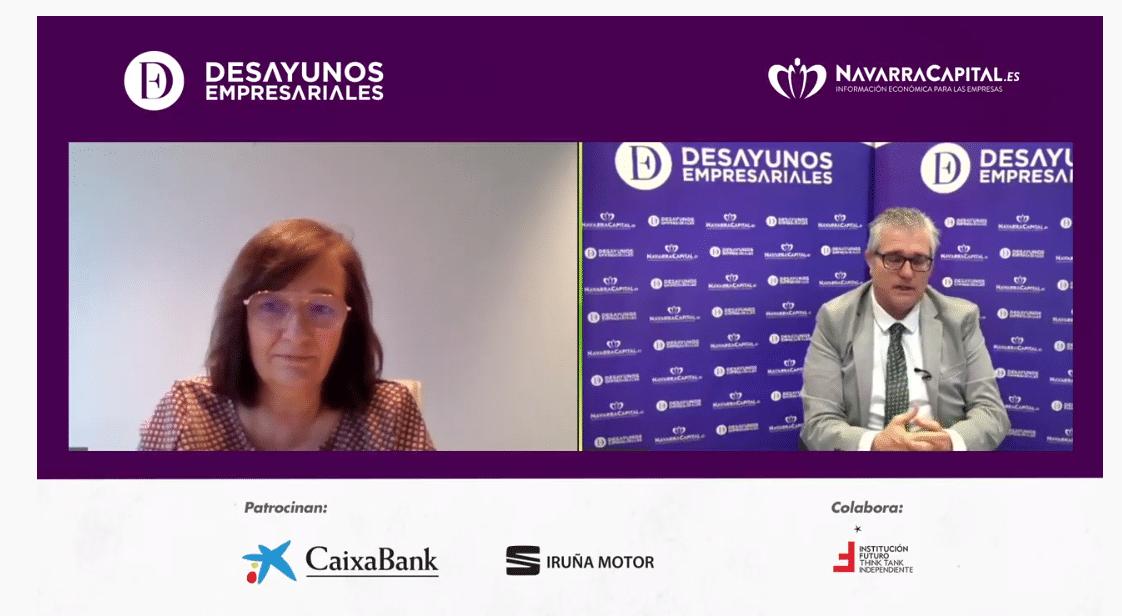 Cristina Herrero en los Desayunos de Navarra Capital