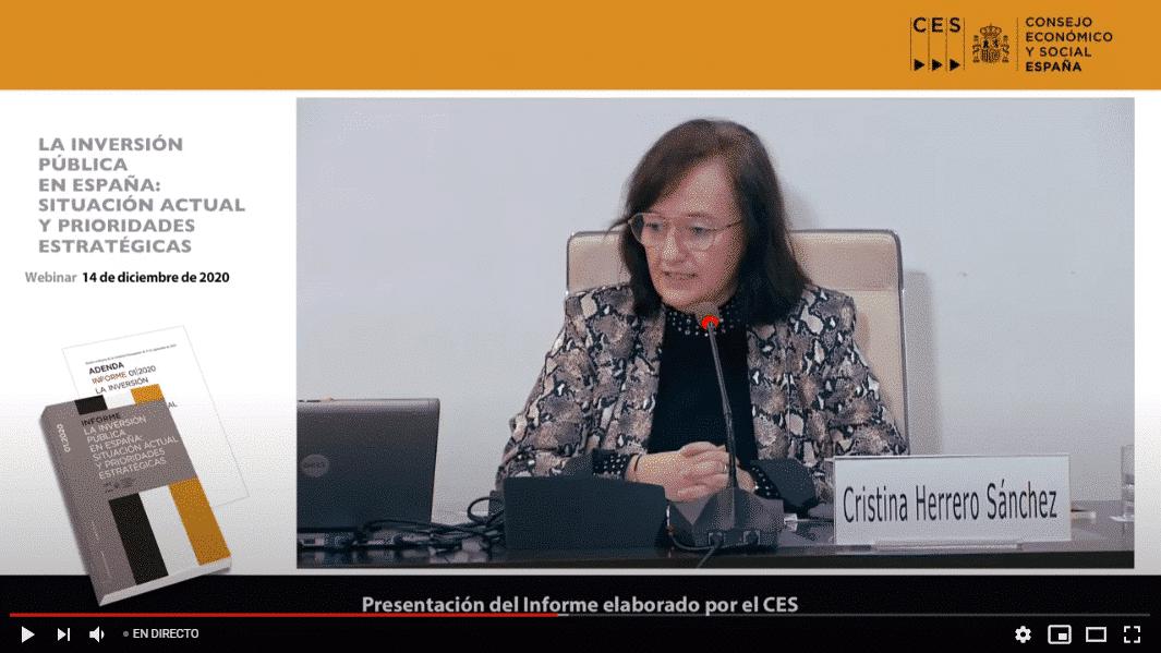 Cristina Herrero en el CES